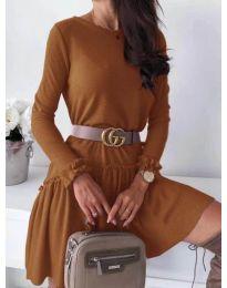 Φόρεμα - κώδ. 350 - καφέ