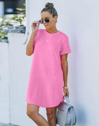 Φόρεμα - κώδ. 38444 - ροζ