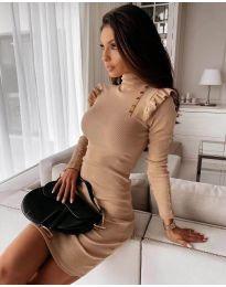 Φόρεμα - κώδ. 8484 - μπεζ