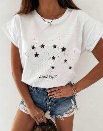 Κοντομάνικο μπλουζάκι - κώδ. 2342 - λευκό