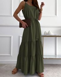 Φόρεμα - κώδ. 2578 - λαδί