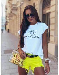Κοντομάνικο μπλουζάκι - κώδ. 5357 - λευκό