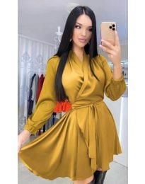 Φόρεμα - κώδ. 5931 - μουσταρδί