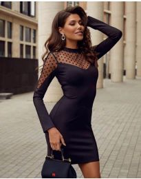 Φόρεμα - κώδ. 2484 - μαύρο