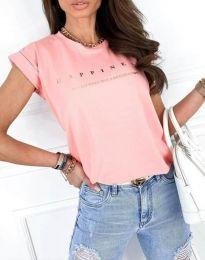 Κοντομάνικο μπλουζάκι - κώδ. 1560 - ροζ