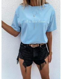 Κοντομάνικο μπλουζάκι - κώδ. 36755 - γαλάζιο