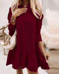Φόρεμα - κώδ. 9376 - μπορντό