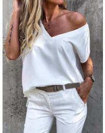 Κοντομάνικο μπλουζάκι - κώδ. 0589 - λευκό