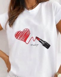 Κοντομάνικο μπλουζάκι - κώδ. 9985 - λευκό