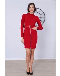 Φόρεμα - κώδ. 2053 - 3 - κόκκινο