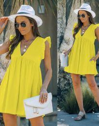 Φόρεμα - κώδ. 7141 - κίτρινο