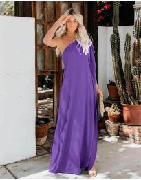 Φόρεμα - κώδ. 6681 - σκούρο μωβ