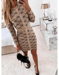 Φόρεμα - κώδ. 0598 - μπεζ