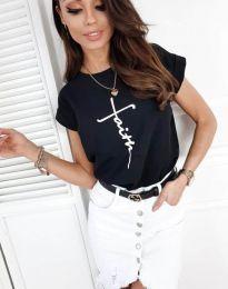 Κοντομάνικο μπλουζάκι - κώδ. 11826 - μαύρο