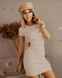Φόρεμα - κώδ. 8556 - μπεζ
