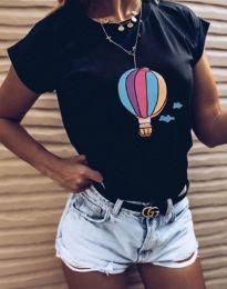 Κοντομάνικο μπλουζάκι - κώδ. 8616 - μαύρο