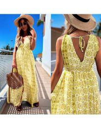Φόρεμα - κώδ. 675 - κίτρινο