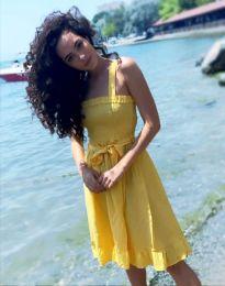 Φόρεμα - κώδ. 8113 - 4 - κίτρινο