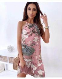 Φόρεμα - κώδ. 7027 - πούδρα