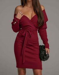 Φόρεμα - κώδ. 4765 - μπορντό