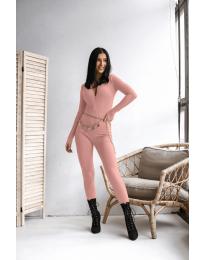 Ολόσωμη φόρμα - κώδ. 6414 - ροζ