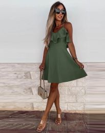 Φόρεμα - κώδ. 2739 - λαδί
