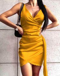 Φόρεμα - κώδ. 4678 - κίτρινο