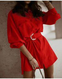 Φόρεμα - κώδ. 6461 - κόκκινο