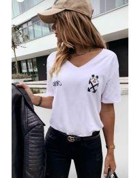 Κοντομάνικο μπλουζάκι - κώδ. 3021 - 1 - λευκό