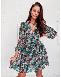 Φόρεμα - κώδ. 3161 - 2 - πολύχρωμο