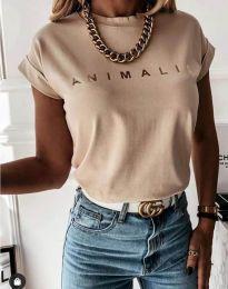 Κοντομάνικο μπλουζάκι - κώδ. 4079 - μπεζ