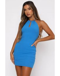 Φόρεμα - κώδ. 11936 - μπλε