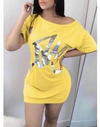 Φόρεμα - κώδ. 1100 - κίτρινο