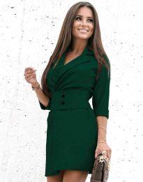 Φόρεμα - κώδ. 1356 - σκούρο πράσινο