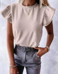 Κοντομάνικο μπλουζάκι - κώδ. 6215 - μπεζ