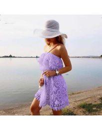 Φόρεμα - κώδ. 4849 - μωβ