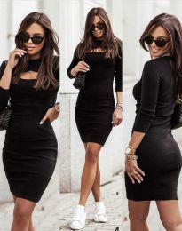 Φόρεμα - κώδ. 7376 - 2 - μαύρο