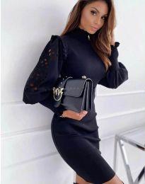 Φόρεμα - κώδ. 1638 - 3 - μαύρο