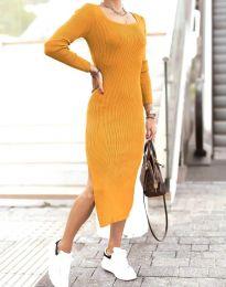 Φόρεμα - κώδ. 2326 - μουσταρδί