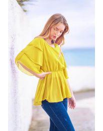 Κοντομάνικο μπλουζάκι - κώδ. 504 - κίτρινο