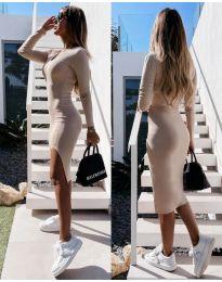 Φόρεμα - κώδ. 8291 - μπεζ
