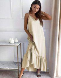 Φόρεμα - κώδ. 4671 - μπεζ