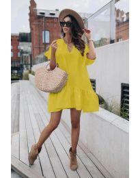 Φόρεμα - κώδ. 6868 - κίτρινο