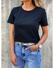 Κοντομάνικο μπλουζάκι - κώδ. 5233 - μαύρο