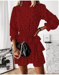 Φόρεμα - κώδ. 3665 - κόκκινο