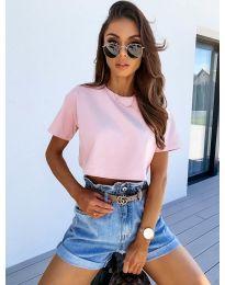 Κοντομάνικο μπλουζάκι - κώδ. 608 - ροζ