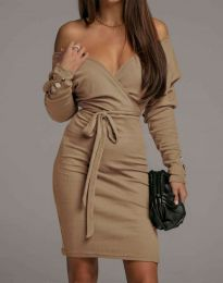 Φόρεμα - κώδ. 4765 - καπουτσίνο