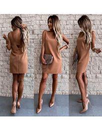 Φόρεμα - κώδ. 1156 - καφέ