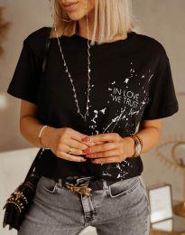 Κοντομάνικο μπλουζάκι - κώδ. 0401 - 3 - μαύρο