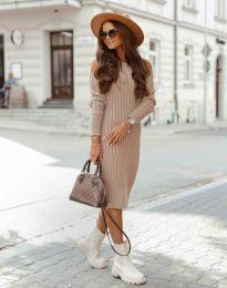 Φόρεμα - κώδ. 8203 - πούδρα